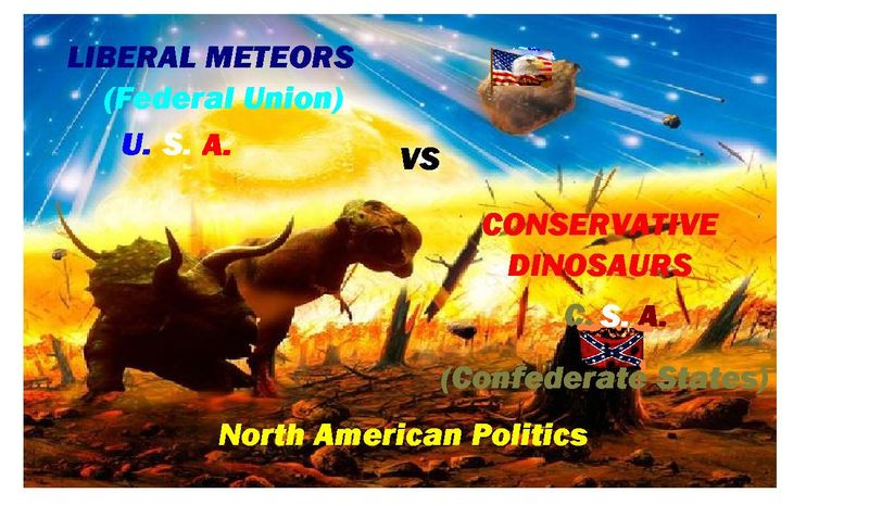 CONSERVATIVE DINASOURS VS LIBERAL METEORS 2